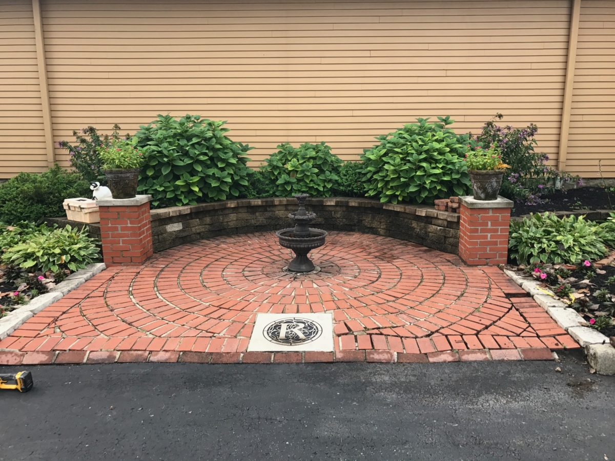 Brick Paver Patio Restored At The Refectory