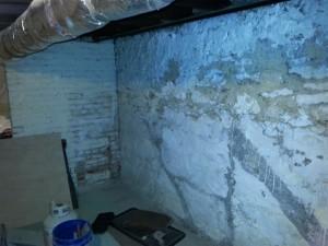 Basement Repair Before