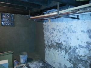 Basement Repair During