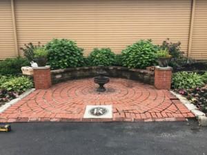 Brick Paver Patio Before