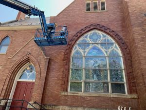 Circleville Presbyterian Church During Restoration